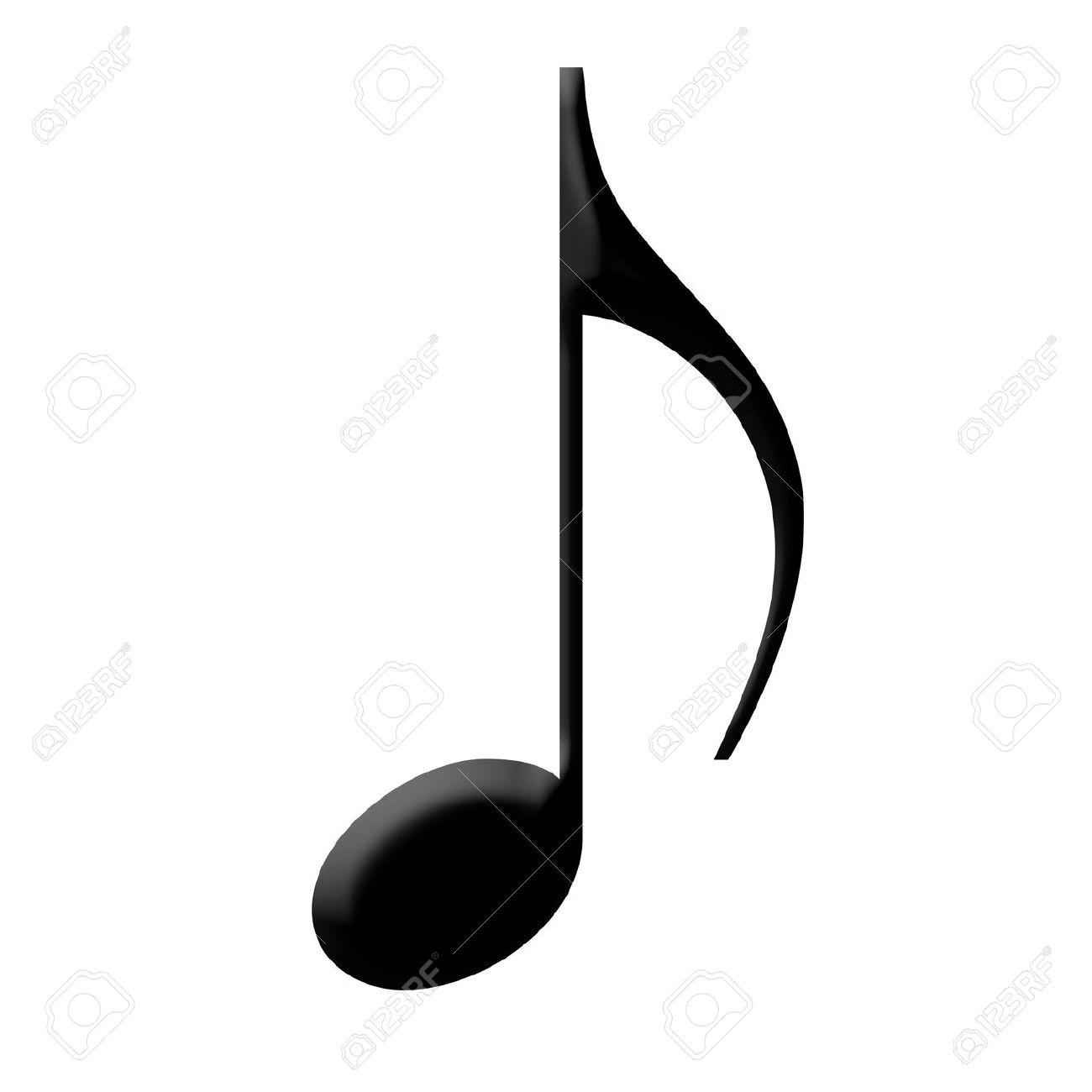 12589281-nota-musicale-con-una-finitura-nero-lucido-archivio-fotografico